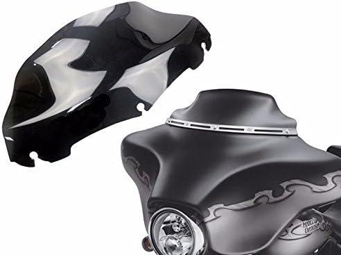 pare-brise de moto de 7 po noir fum/ée noir pour 2014-2016 Harley Street Glide 2015 14-16 Electra Glide ultra classique FLHTCU rue FLHX FLHXS Tri Glide FLHTCUTG ultra limit/é