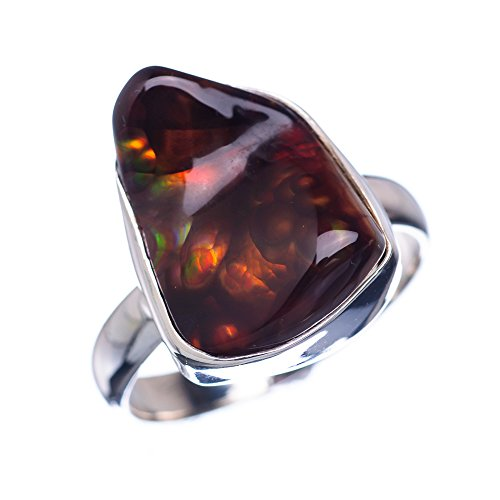 Ana Silver Co Rare Mexican Fire Agate 925 Sterling Silver Ring Size 10 - Handmade Fashion Gemstone Jewelry RING850665