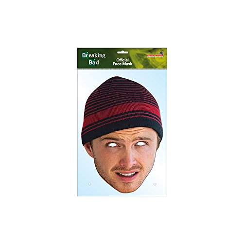 [Official Breaking Bad Jesse Pinkman Face Mask (Full Face Card)] (Breaking Bad Jesse Costumes)