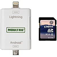 Moultrie Smart Phone SD All File Format Card Reader + 8GB Kingston SD Card