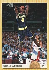 Chris Webber Basketball Card Michigan Wolverines Fab 5