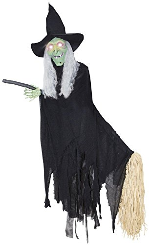 Life Size Animated Witch (Lifesize Animated Flying Witch Halloween Decoration)