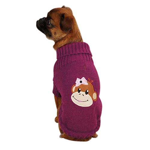 East Side Collection Acrylic Monkey Business Dog Sweater, XX-Small