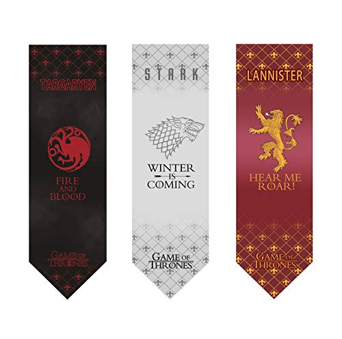 Game of Thrones Banner- House Wall Banner - 3 PACK - High Quality,%100 Polyester - 18'' x 60'' Dimensions - Indoor Party Flag - 2019 New Design ! (STARK,TARGARYEN,LANNISTER)