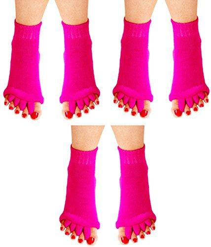 6d53325aa3 niceEshop(TM) Lady Comfy Toes Foot Alignment Socks Happy Feet Socks (L