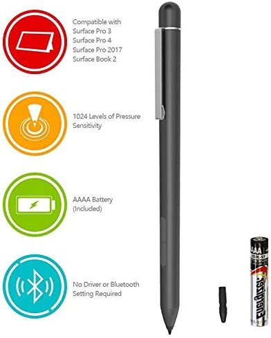 Bamboo Ink Smart Stylus Pen for Microsoft Surface Pro 6 5 4 3 Go Book windows 10