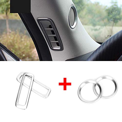 Huanlovely for car: for Mazda CX-5 CX5 2017 2018 2019 Speaker Sound Ring Trim Cover Stainless Steel Decoration Interior mouldings Accessories