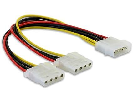 DeLock Y- Kabel Stromversorgung > 2x 4pin Molex: Amazon.de: Computer ...