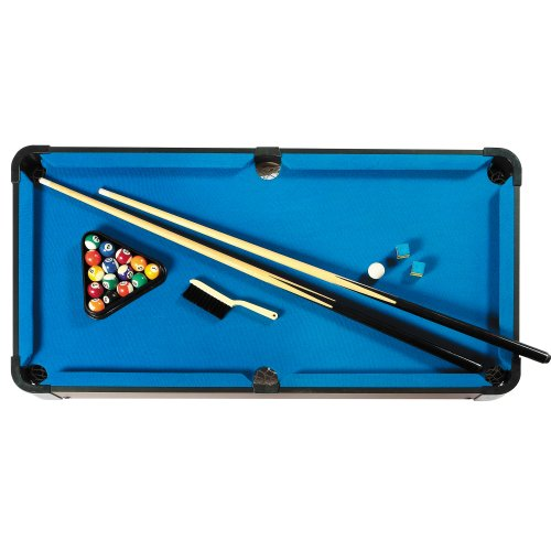 Hathaway sharp shooter pool table blue 40 inch sports for Most popular pool colours