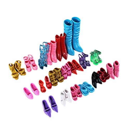 MAPZE 12 pairs Combination Barbie Shoes (Barbie Doll Shoes)