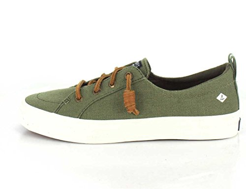 Sperry Top-Sider Women's Crest Vibe Crepe Chambray Sneaker Olive under $60 sale online top quality cheap price cheap sale order discount z8PNPgXZ2y