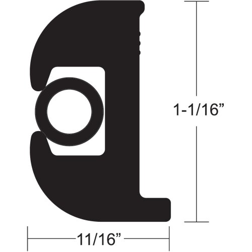 Taco Metals V11-0809BBK70-2 / Taco Flex Vinyl Rub Rail Kit - Black w/Black Insert - 70039; ()