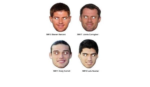 Luis Suarez Celebrity Cardboard Face Mask-Single (máscara/careta): Amazon.es: Juguetes y juegos