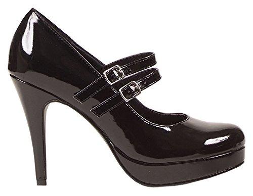 Jane-421 Calzado Adulto Negro - Talla 9