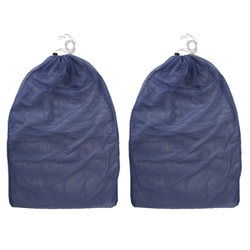 Travel Ultralight Mesh Drawstring Storage Bag Blue - 3