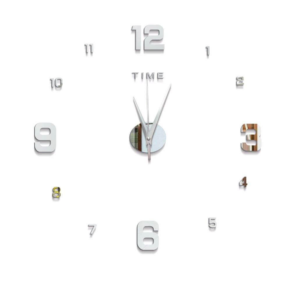 HomeClock Decoración de Pared Producto Mute Etiqueta de Pared Reloj Digital Pared de Reloj de Pared Plata: Amazon.es: Hogar