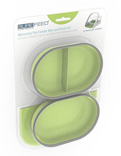 Sure Petcare Mat & Bowl set (Green)