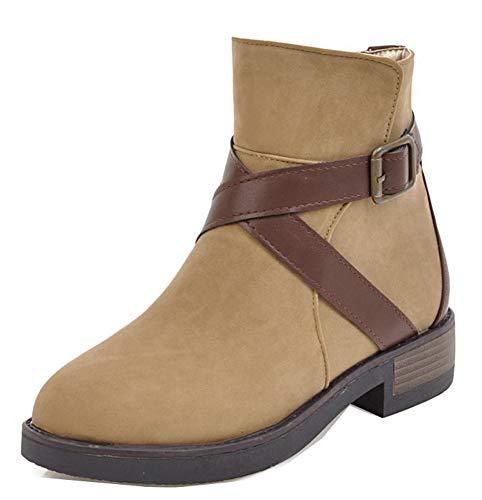 Petit Classique Femme Cheville Bottines Montante Brun Chaussure Easemax  Talon RI5qw6YYd ... d59170d06e9e