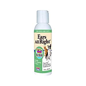 Ark Naturals Ears All Right, Gentle Ear Cleaning Lotion for All Pets - 4 fl oz