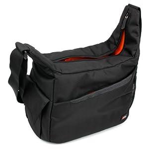 DURAGADGET Black & Orange 'Sling' Bag – Ideal for Storing your Nursing | Home Visits Medical Supplies & Equipment – w/Adjustable Dividers (280 x 200 x 100 mm)