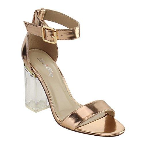 champagne color dress sandals - 8