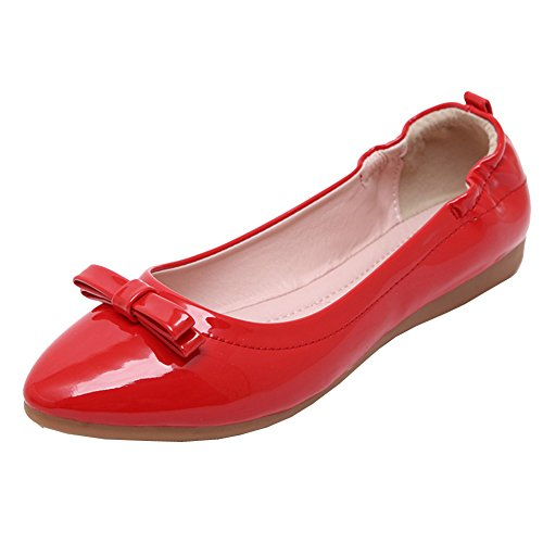 Flat Red Boat Women's Casual Shoes on Slip Ladies Loafers Moccasin Shoes Bowknot ZongSen wOBqXx