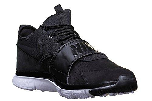 Nike Menns Gratis Ess Lthr Trening Sko Svart / Svart / Svart