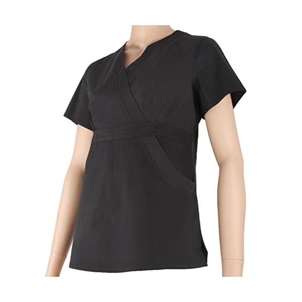 MISEMIYA Uniformes Sanitarios Elástica Señora Clinica Hospital Dentista Veterinaria Pantalones Cortos de utilidades de Trabajo para Mujer 4