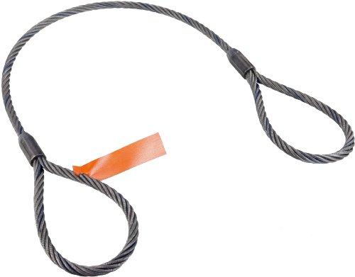 (Mazzella Mechanical Splice Wire Rope Sling, Eye-and-Eye, 6 x 25 IWRC, 10' Length, 1/2