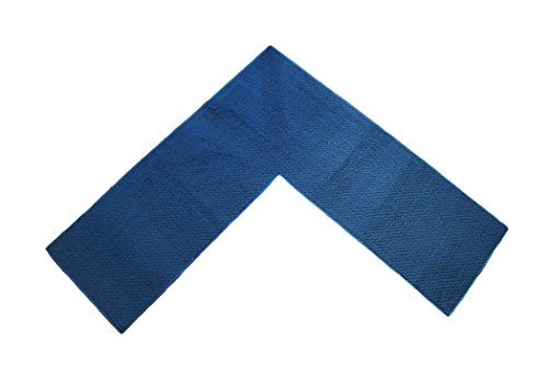 """Emerald Wholesale Perfect for Kitchen, Shop and Garage Solid Corner Rug, 68 by 68 by 24"""", Blue"""
