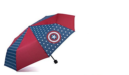 Price comparison product image Luk Oil Captain America Umbrella Children Folding Umbrella Captain America Umbrella for Boys (Captain America)