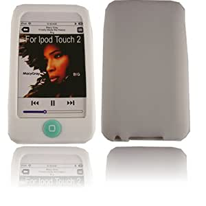 Silicona Caso Cubrir Concha Para Apple iPod Touch 2nd 3rd Generation / White