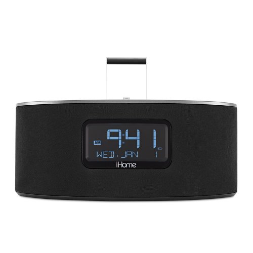 ihome idl46 lightning dock clock radio and usb charge play for ipad ipod and. Black Bedroom Furniture Sets. Home Design Ideas