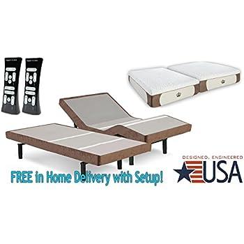 this item split king 12inch coolbreeze gel memory foam mattress with scape performance brown base adjustable beds set sleep system leggett