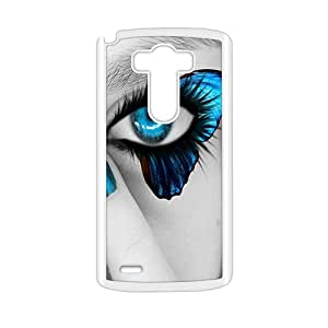 Attractive Butterfly Blue Eyes Plasitc Hard Skin Protective Cover Cellphone Back Case for LG G3