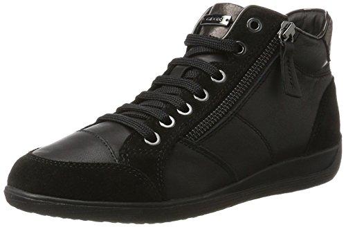 Femme Black Sneakers Myria Geox Hautes Noir C qAY81ARwxI