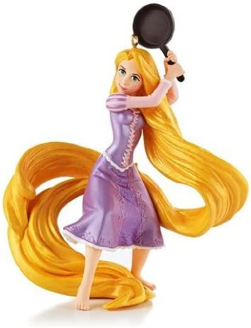 Amazon Com 1 X Fierce With A Frying Pan Disney Tangled 2013 Hallmark Ornament Home Kitchen