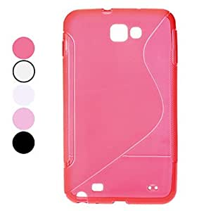 S Shape TPU Soft Case for Samsung Galaxy Note I9220 (Assorted Colors) --- COLOR:Red