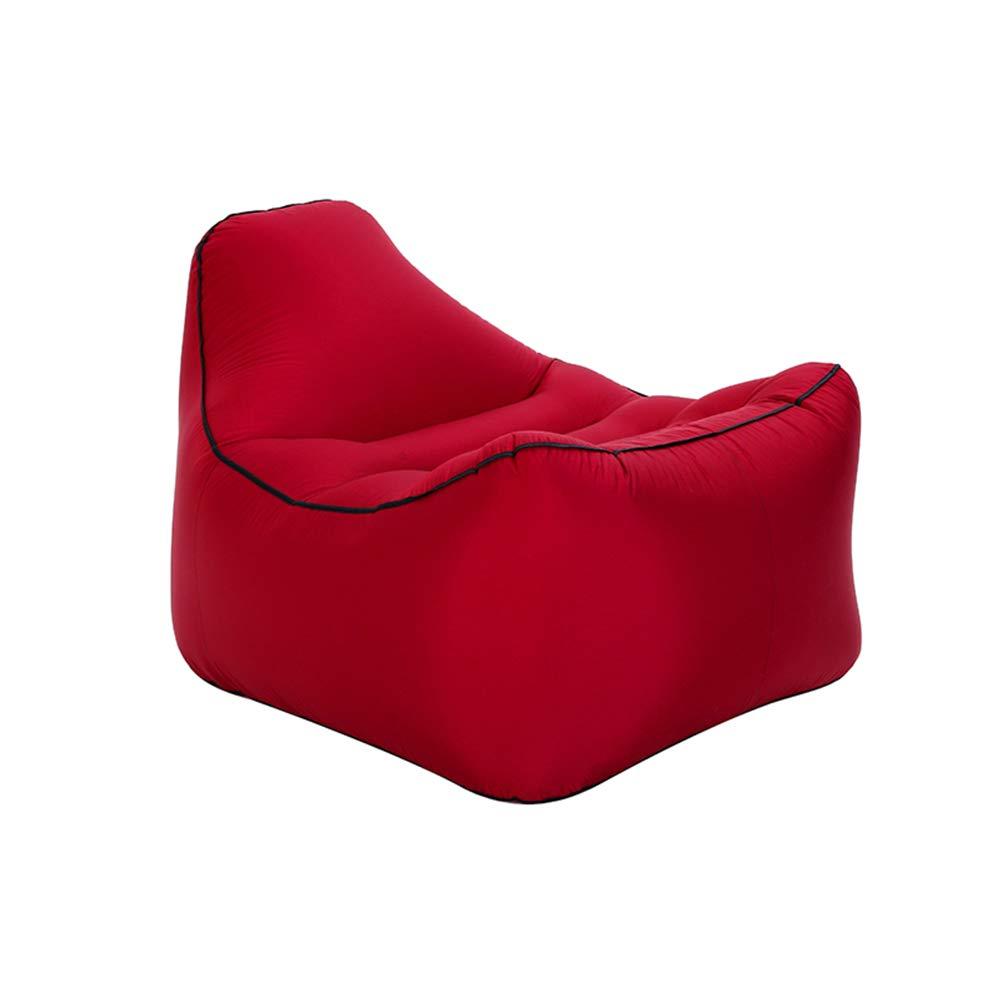 rouge L Baisde Canapé Gonflable Sofa Gonflable ImperméAble à l'eau Durable LéGer Compact De Sofa Longue Salon Fauteuil