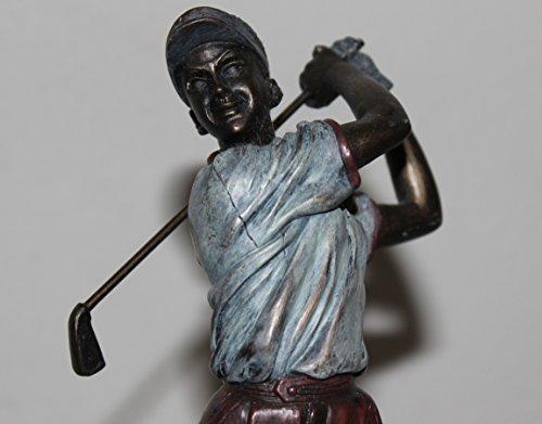 Veronese Lady Golfer Resin Anticipation Sculpture Cast Woman Golf Figurine 9