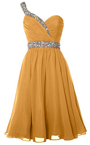 One Prom Party Homecoming Shoulder Gold Short MACloth Dress Formal Gorgeous Gown Hw5UITxRq
