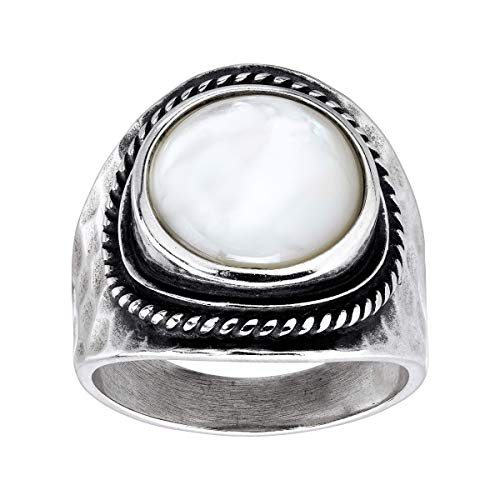 Silpada 'Pearlized' Natural Mother-of-Pearl Statement Ring in Sterling Silver