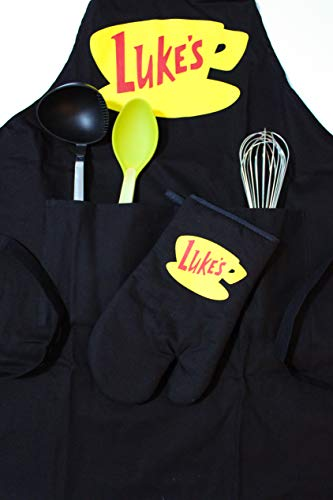 Luke's Diner Apron and Oven Mitt Gift Set-Gilmore Girls Merchandise-Inspired by TV - Apron Diner