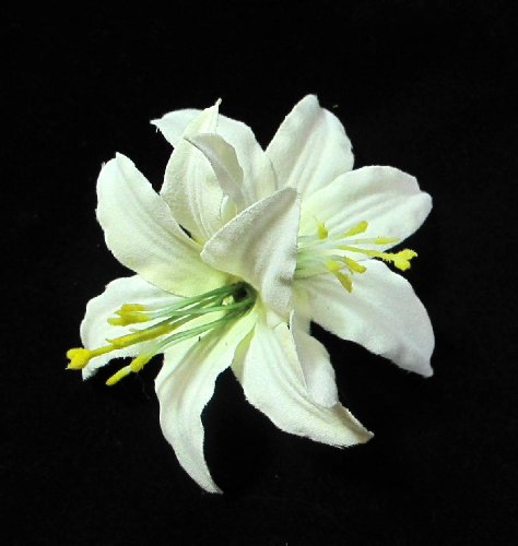 Ivory Lily Flower Hair Clip
