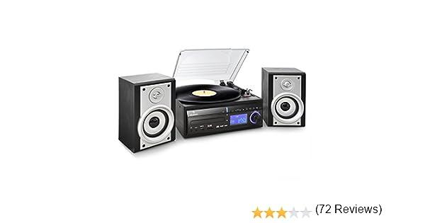 Auna MG-DS28 - Tocadiscos para Equipo de Audio, Negro y Plateado ...