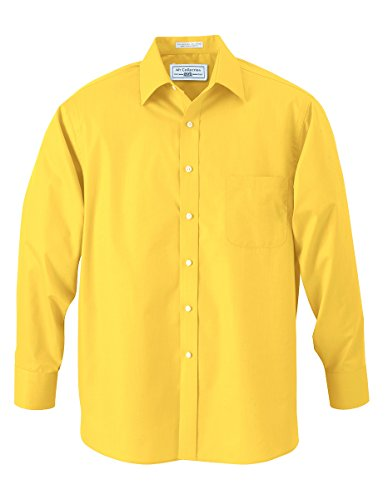 Boys Canary Yellow Designer Button Down Dress Shirt