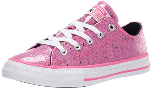 Converse Girls' Chuck Taylor All Star Galaxy Glimmer Sneaker, Mod Pink/Obsidian/White, 12 M US Little Kid