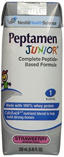 Peptamen Junior Supplement, Strawberry, 8.45 Fluid Ounce, Pack of 24 by Peptamen