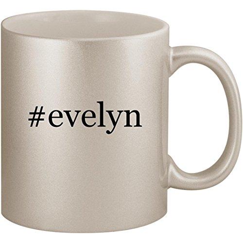 #evelyn - 11oz Ceramic Coffee Mug Cup, Silver