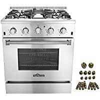 30' Thor Kitchen Free Standing 4 burner gas range + LP Conversion Kit bundle